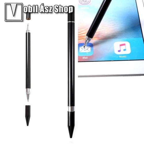 HUAWEI P9Érintőképernyő ceruza / golyós toll - kapacitív kijelzőhöz, KÉZÍRÁSRA, RAJZOLÁSRA ALKALMAS - FEKETE