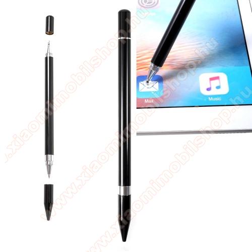 Xiaomi Mi 10T Pro 5GÉrintőképernyő ceruza / golyós toll - kapacitív kijelzőhöz, KÉZÍRÁSRA, RAJZOLÁSRA ALKALMAS - FEKETE