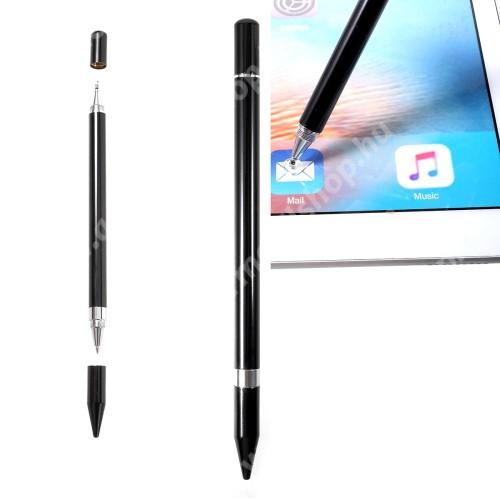 ACER Iconia Tab 10 A3-A40 Érintőképernyő ceruza / golyós toll - kapacitív kijelzőhöz, KÉZÍRÁSRA, RAJZOLÁSRA ALKALMAS - FEKETE
