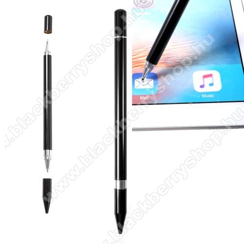 BLACKBERRY DTEK60Érintőképernyő ceruza / golyós toll - kapacitív kijelzőhöz, KÉZÍRÁSRA, RAJZOLÁSRA ALKALMAS - FEKETE
