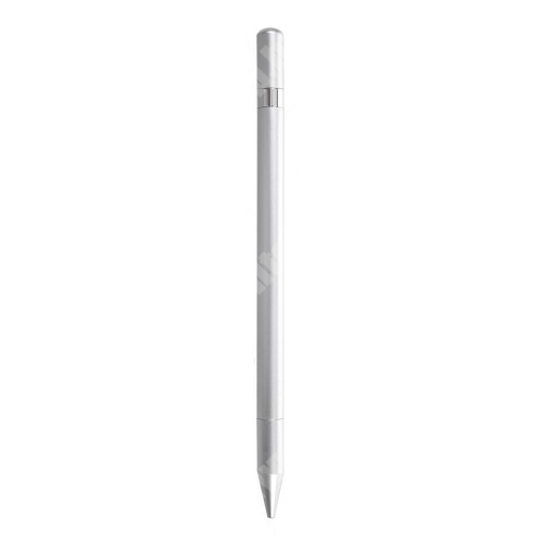 HTC Desire 12s Érintőképernyő ceruza / golyós toll - kapacitív kijelzőhöz, KÉZÍRÁSRA, RAJZOLÁSRA ALKALMAS - SZÜRKE