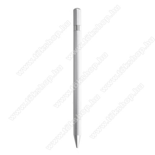 Érintőképernyő ceruza / golyós toll - kapacitív kijelzőhöz, KÉZÍRÁSRA, RAJZOLÁSRA ALKALMAS - SZÜRKE