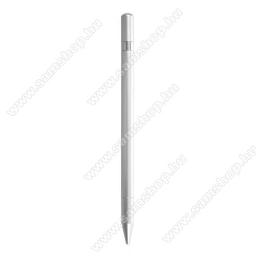 SAMSUNG W880 AMOLED 12MÉrintőképernyő ceruza / golyós toll - kapacitív kijelzőhöz, KÉZÍRÁSRA, RAJZOLÁSRA ALKALMAS - SZÜRKE