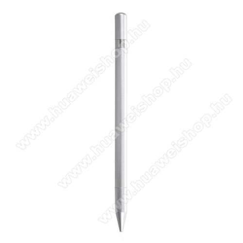 HUAWEI MediaPad M3 Lite 8Érintőképernyő ceruza / golyós toll - kapacitív kijelzőhöz, KÉZÍRÁSRA, RAJZOLÁSRA ALKALMAS - SZÜRKE