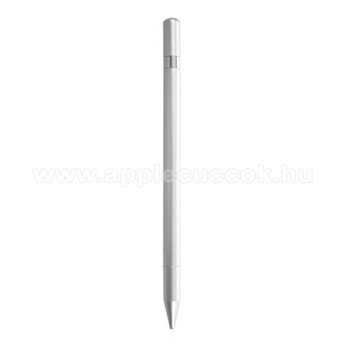 APPLE iPhone 3GSÉrintőképernyő ceruza / golyós toll - kapacitív kijelzőhöz, KÉZÍRÁSRA, RAJZOLÁSRA ALKALMAS - SZÜRKE
