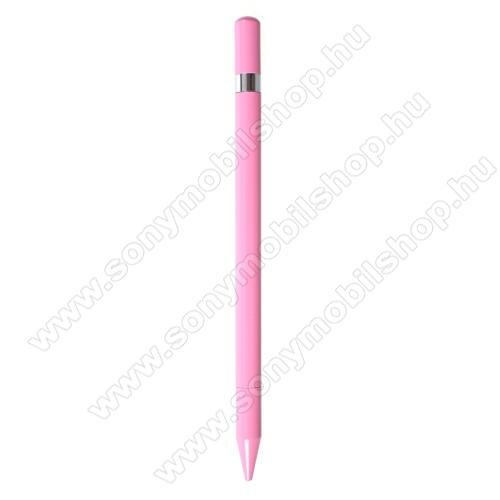 SONY Xperia Z2 (D6503)Érintőképernyő ceruza / golyós toll - kapacitív kijelzőhöz, KÉZÍRÁSRA, RAJZOLÁSRA ALKALMAS - RÓZSASZÍN