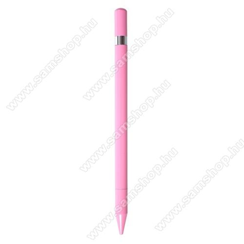 SAMSUNG Galaxy Tab (P1000)Érintőképernyő ceruza / golyós toll - kapacitív kijelzőhöz, KÉZÍRÁSRA, RAJZOLÁSRA ALKALMAS - RÓZSASZÍN