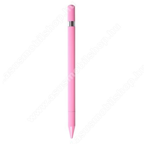 ASUS Zenfone Go (ZB552KL)Érintőképernyő ceruza / golyós toll - kapacitív kijelzőhöz, KÉZÍRÁSRA, RAJZOLÁSRA ALKALMAS - RÓZSASZÍN