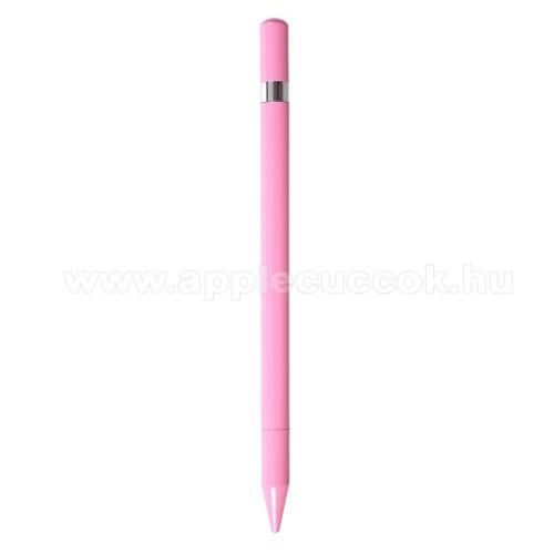 Érintőképernyő ceruza / golyós toll - kapacitív kijelzőhöz, KÉZÍRÁSRA, RAJZOLÁSRA ALKALMAS - RÓZSASZÍN