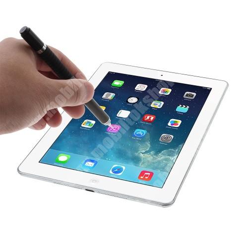 APPLE iPad mini 2 Érintőképernyő ceruza / golyós toll - kapacitív kijelzőhöz, VÉKONY HEGYŰ! - FEKETE
