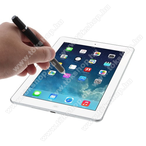 Elephone S3 LiteÉrintőképernyő ceruza / golyós toll - kapacitív kijelzőhöz, KÉZÍRÁSRA, RAJZOLÁSRA ALKALMAS - FEKETE