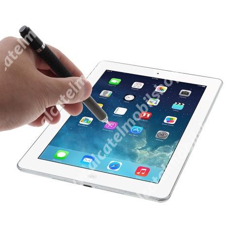 ALCATEL A5 LED Érintőképernyő ceruza / golyós toll - kapacitív kijelzőhöz, KÉZÍRÁSRA, RAJZOLÁSRA ALKALMAS - FEKETE