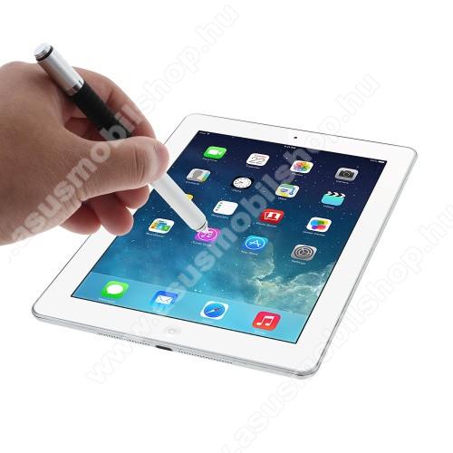 ASUS PadFone XÉrintőképernyő ceruza / golyós toll - kapacitív kijelzőhöz, KÉZÍRÁSRA, RAJZOLÁSRA ALKALMAS - EZÜST