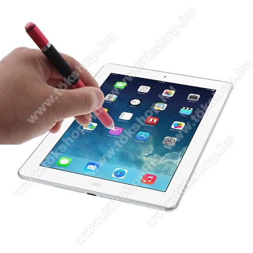 Vodafone Smart 4 miniÉrintőképernyő ceruza / golyós toll - kapacitív kijelzőhöz, KÉZÍRÁSRA, RAJZOLÁSRA ALKALMAS - PIROS