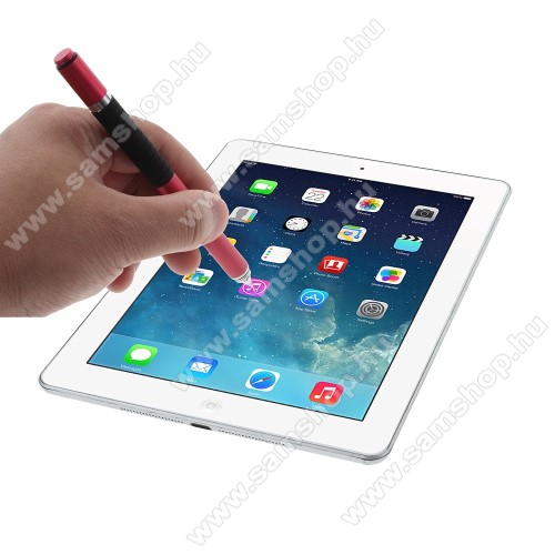 SAMSUNG SM-T835 Galaxy Tab S4 10.5 (LTE)Érintőképernyő ceruza / golyós toll - kapacitív kijelzőhöz, KÉZÍRÁSRA, RAJZOLÁSRA ALKALMAS - PIROS