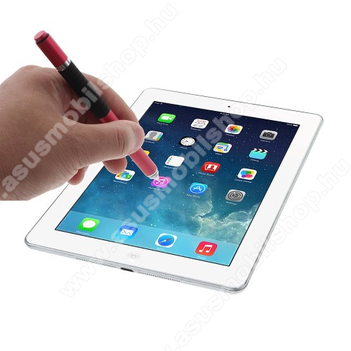 ASUS Memo Pad 10.1 ME301T-1B015AÉrintőképernyő ceruza / golyós toll - kapacitív kijelzőhöz, KÉZÍRÁSRA, RAJZOLÁSRA ALKALMAS - PIROS