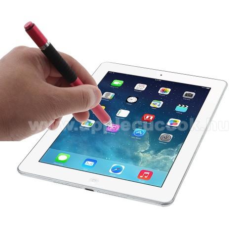 APPLE IPhone 5SÉrintőképernyő ceruza / golyós toll - kapacitív kijelzőhöz, KÉZÍRÁSRA, RAJZOLÁSRA ALKALMAS - PIROS