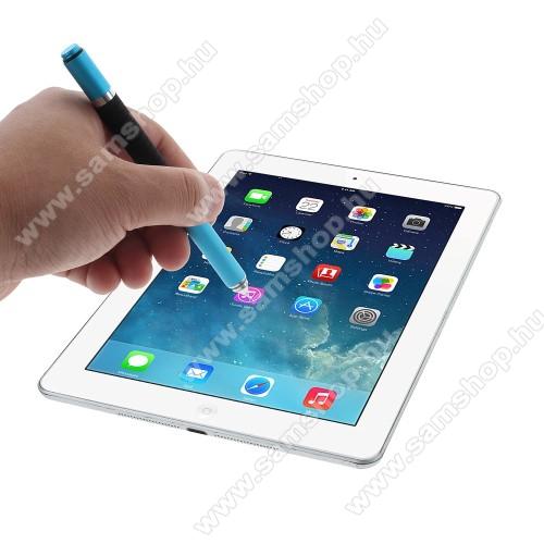 SAMSUNG SM-P905 Galaxy Note Pro 12.2 LTEÉrintőképernyő ceruza / golyós toll - kapacitív kijelzőhöz, KÉZÍRÁSRA, RAJZOLÁSRA ALKALMAS - VILÁGOSKÉK