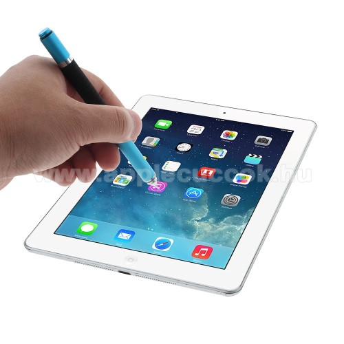 APPLE iPad 2 (2th generation)Érintőképernyő ceruza / golyós toll - kapacitív kijelzőhöz, KÉZÍRÁSRA, RAJZOLÁSRA ALKALMAS - VILÁGOSKÉK