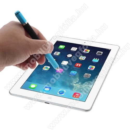 HUAWEI Enjoy 9eÉrintőképernyő ceruza / golyós toll - kapacitív kijelzőhöz, KÉZÍRÁSRA, RAJZOLÁSRA ALKALMAS - VILÁGOSKÉK
