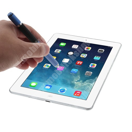 APPLE iPad mini 2 Érintőképernyő ceruza / golyós toll - kapacitív kijelzőhöz, VÉKONY HEGYŰ! - KÉK