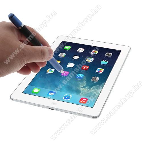 SAMSUNG SM-G920 Galaxy S6Érintőképernyő ceruza / golyós toll - kapacitív kijelzőhöz, KÉZÍRÁSRA, RAJZOLÁSRA ALKALMAS - KÉK
