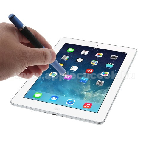 APPLE iPad Pro 11 (2018)Érintőképernyő ceruza / golyós toll - kapacitív kijelzőhöz, KÉZÍRÁSRA, RAJZOLÁSRA ALKALMAS - KÉK