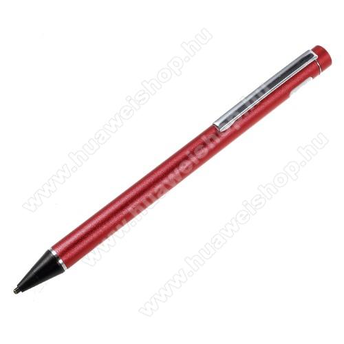 Érintőképernyő ceruza - kapacitív kijelzőkhöz, aktív érzékelő technológia, beépített újratölthető akkumulátorral, kézírásra, rajzolásra is alkalmas - PIROS