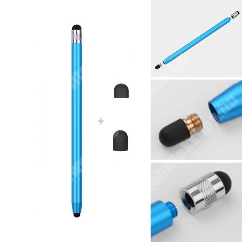 MOTOROLA Moto G4 Érintőképernyő ceruza - kapacitív kijelzőhöz, 14,2cm hosszú, cserélhető tartalék érintőpárnákkal 1db 5mm-es és 1db 7mm-es - VILÁGOSKÉK