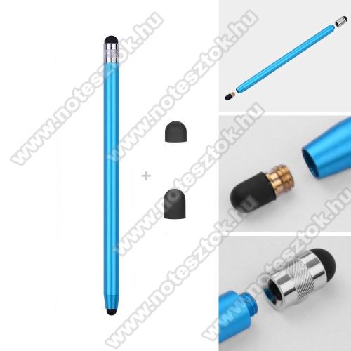 Lenovo Yoga Smart Tab 10.1 (YT-X705)Érintőképernyő ceruza - kapacitív kijelzőhöz, 14,2cm hosszú, cserélhető tartalék érintőpárnákkal 1db 5mm-es és 1db 7mm-es - VILÁGOSKÉK