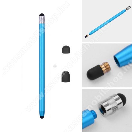 ASUS Memo Pad 10.1 ME301T-1B015AÉrintőképernyő ceruza - kapacitív kijelzőhöz, 14,2cm hosszú, cserélhető tartalék érintőpárnákkal 1db 5mm-es és 1db 7mm-es - VILÁGOSKÉK