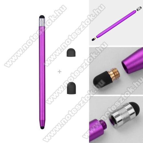 Lenovo Yoga Smart Tab 10.1 (YT-X705)Érintőképernyő ceruza - kapacitív kijelzőhöz, 14,2cm hosszú, cserélhető tartalék érintőpárnákkal 1db 5mm-es és 1db 7mm-es - LILA