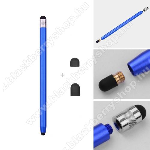 BLACKBERRY Evolve XÉrintőképernyő ceruza - kapacitív kijelzőhöz, 14,2cm hosszú, cserélhető tartalék érintőpárnákkal 1db 5mm-es és 1db 7mm-es - SÖTÉTKÉK