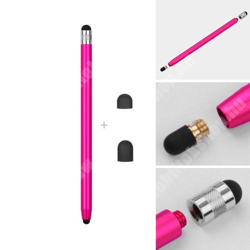 PRESTIGIO MultiPhone 5300 Duo Érintőképernyő ceruza - kapacitív kijelzőhöz, 14,2cm hosszú, cserélhető tartalék érintőpárnákkal 1db 5mm-es és 1db 7mm-es - RÓZSASZÍN