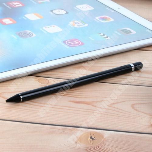 ZTE Blade A520 Érintőképernyő ceruza - kapacitív kijelzőkhöz, aktív érzékelő technológia, beépített újratölthető akkumulátorral, kézírásra, rajzolásra is alkalmas, 9mm x 180mm - FEKETE