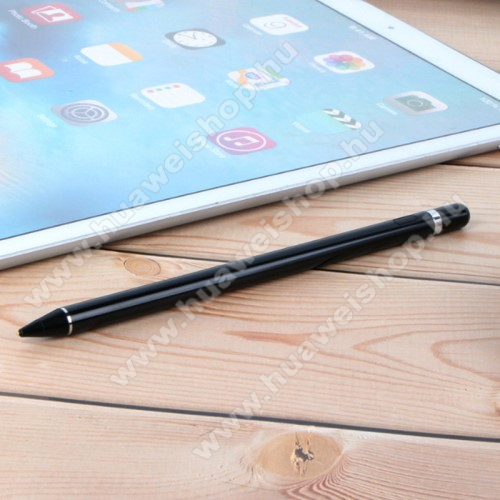 HUAWEI Honor 20 lite (For China Market)Érintőképernyő ceruza - kapacitív kijelzőkhöz, aktív érzékelő technológia, beépített újratölthető akkumulátorral, kézírásra, rajzolásra is alkalmas, 9mm x 180mm - FEKETE