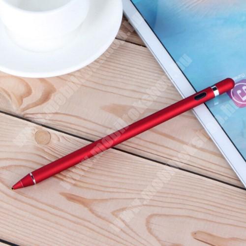 Blackphone Érintőképernyő ceruza - kapacitív kijelzőkhöz, aktív érzékelő technológia, beépített újratölthető akkumulátorral, kézírásra, rajzolásra is alkalmas, 9mm x 180mm - PIROS