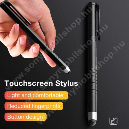 SONY Xperia Z3 (D6653)Érintőképernyő ceruza - kapacitív kijelzőhöz, 115 x 11mm - FEKETE