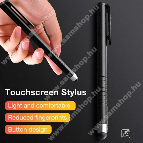 SAMSUNG Galaxy S Giorgio Armani (GT-I9010)Érintőképernyő ceruza - kapacitív kijelzőhöz, 115 x 11mm - FEKETE