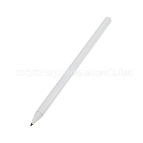 Érintőképernyő ceruza - kapacitív kijelzőkhöz, aktív érzékelő technológia, beépített újratölthető akkumulátorral, 12 óra használati idő, kézírásra, rajzolásra is alkalmas - FEHÉR - APPLE iPad Pro 12.9 (2018) / Pro 11 (2018) / Air 10.5 (2019) / 9.7 (2018)