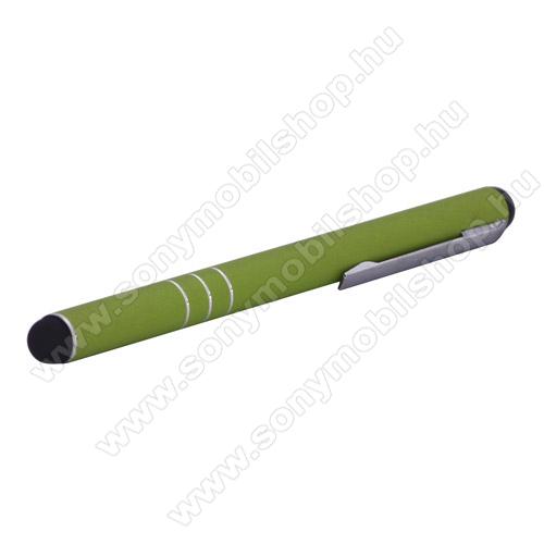 SONY Xperia Z3 (D6653)Érintőképernyő ceruza - kapacitív kijelzőhöz - ZÖLD