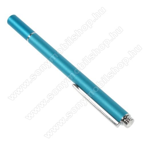 SONY Xperia Z1S (C6916)Érintőképernyő ceruza - kapacitív kijelzőhöz, KÉZÍRÁSRA, RAJZOLÁSRA IS ALKALMAS - VILÁGOSKÉK