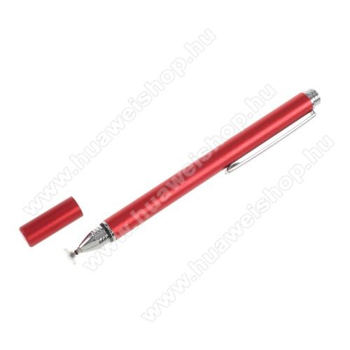 HUAWEI P8 maxÉrintőképernyő ceruza - kapacitív kijelzőhöz, KÉZÍRÁSRA, RAJZOLÁSRA IS ALKALMAS - PIROS