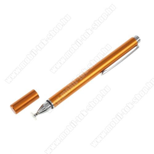 Érintőképernyő ceruza - kapacitív kijelzőhöz, KÉZÍRÁSRA, RAJZOLÁSRA IS ALKALMAS - ARANY