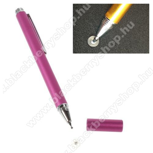 Érintőképernyő ceruza - kapacitív kijelzőhöz, KÉZÍRÁSRA, RAJZOLÁSRA IS ALKALMAS - MAGENTA