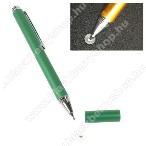 Érintőképernyő ceruza - kapacitív kijelzőhöz, KÉZÍRÁSRA, RAJZOLÁSRA IS ALKALMAS - ZÖLD
