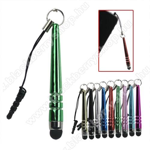 BLACKBERRY 9530 StormÉrintőképernyő ceruza - mini, 3,5 jack csatlakozóba illeszthető, kapacitív kijelzőhöz - GREEN / ZÖLD