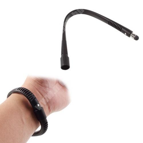 LeEco Le S3 Érintőképernyő ceruza - szilikon, csuklóra rögzíthető, kapacitív kijelzőhöz, 21 cm - FEKETE
