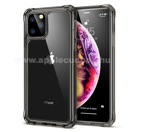 ESR AIR ARMOR műanyag védő tok / átlátszó hátlap - szilikon szegély, erősített sarkok - FEKETE - Apple iPhone 11 Pro - GYÁRI