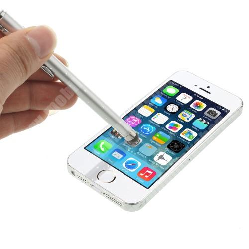 T-Mobile G1 (HTC Dream 100) EXKLUZÍV érintőképernyő ceruza - strassz kővel díszített, kapacitív kijelzőhöz - EZÜST